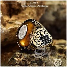 İslam Usta Tasarımı Bahra Gümüş Erkek Yüzük