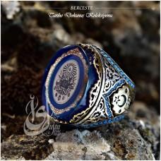İslam Usta Tasarımı Berceste Gümüş Erkek Yüzük