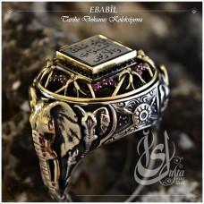 İslam Usta Tasarımı Ebabil Gümüş Erkek Yüzük