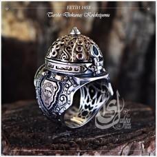 İslam Usta Tasarımı Fetih 1453 Gümüş Erkek Yüzük