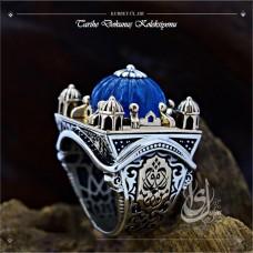 İslam Usta Tasarımı Kubbet-ül Sır Gümüş Erkek Yüzük