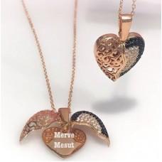 Kalp Figürlü Gümüş Kadın Kolye